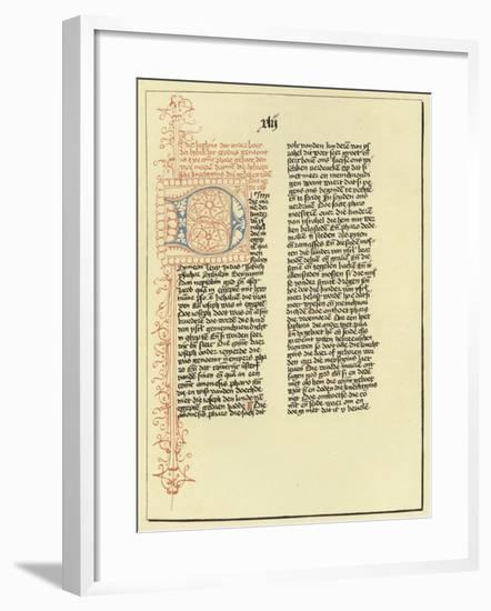 Page of the Book of Exodus--Framed Giclee Print