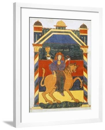 Page of the Book of Revelation by Saint Severo, 11th Century--Framed Giclee Print