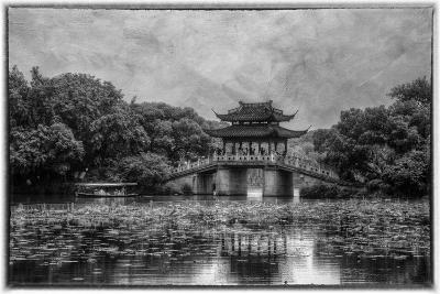 Pagoda Along the Waterfront West Lake, Hangzhou-Darrell Gulin-Photographic Print