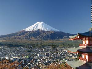 Pagoda and Mount Fuji, Honshu, Japan