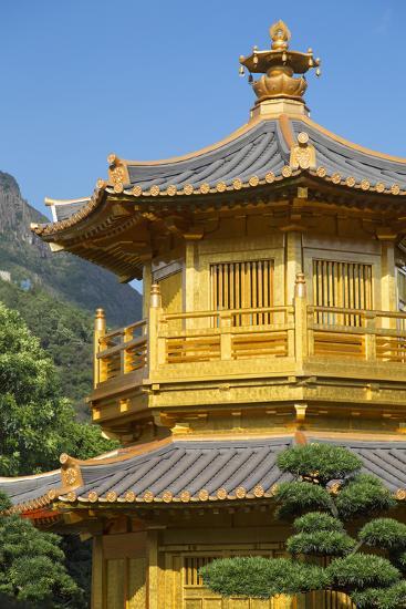 Pagoda in Nan Lian Garden at Chi Lin Nunnery, Diamond Hill, Kowloon, Hong Kong-Ian Trower-Photographic Print