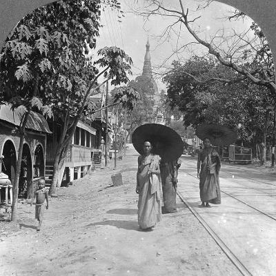 Pagoda Road to the Shwedagon Pagoda, Rangoon, Burma, 1908--Photographic Print