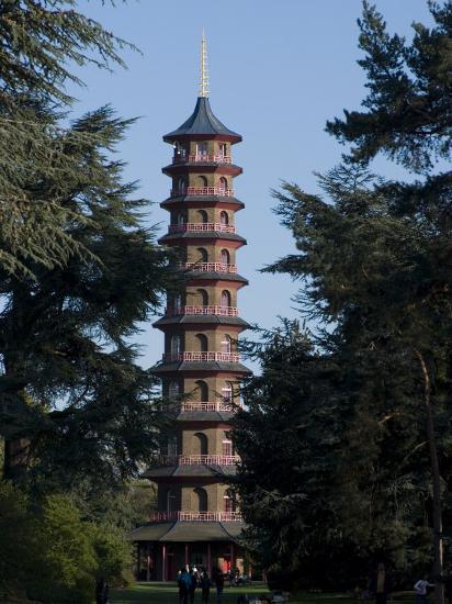 Pagoda, Royal Botanic Gardens, Kew, Surrey-Ethel Davies-Photographic Print