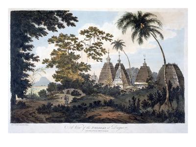 Pagodas at Deogur, 1787 (Aquatint)-William Hodges-Giclee Print