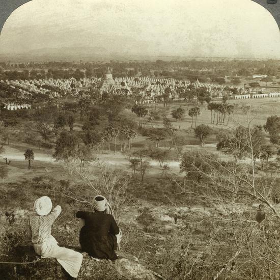 Pagodas, Mandalay, Burma, C1900s-Underwood & Underwood-Photographic Print