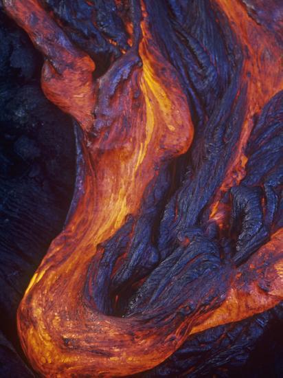 Pahoehoe Lava Flow from the Kilauea Volcano, Hawaii, USA-G. Brad Lewis-Photographic Print