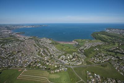 Paignton Bay with Torquay in the Background, Devon, England, United Kingdom, Europe-Dan Burton-Photographic Print