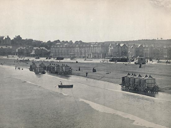 'Paignton - The Sands, from the Pier', 1895-Unknown-Photographic Print