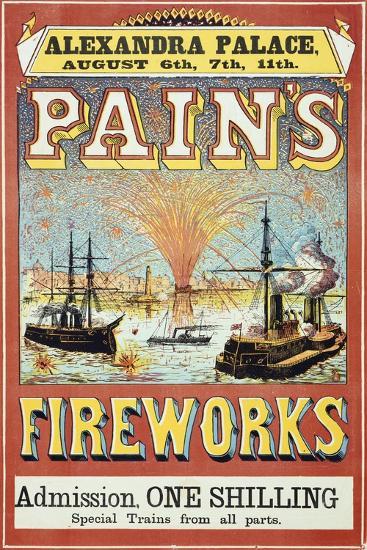 Pain's Fireworks--Giclee Print