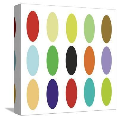Paint Box Graphic I (detail)-Dan Bleier-Stretched Canvas Print