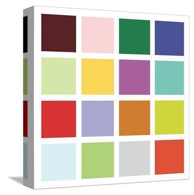 Paint Box Graphic II (detail)-Dan Bleier-Stretched Canvas Print