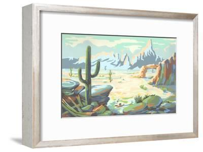 Paint by Numbers, Desert Scene
