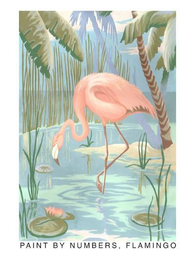 Paint by Numbers, Flamingo--Art Print