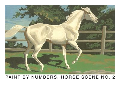 Paint by Numbers, Horse Scene Number Two--Art Print