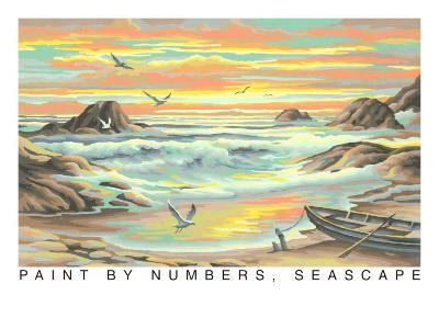 Paint by Numbers, Seascape--Art Print