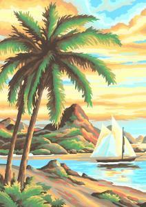 Paint by Numbers,Tropical Scene Number One