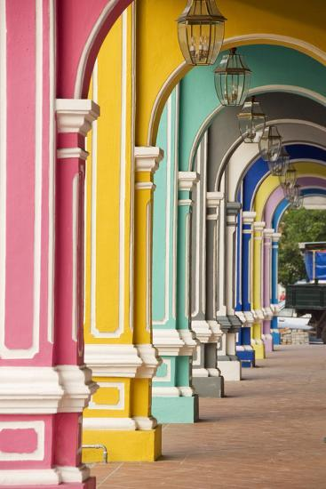 Painted Arches 3, George Town, Penang, Malaysia-Mark Hall-Photographic Print