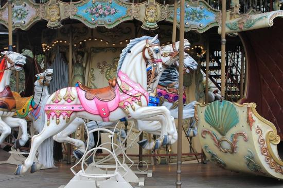 Painted Carousel Horses, Paris, France-John Cumbow-Photographic Print