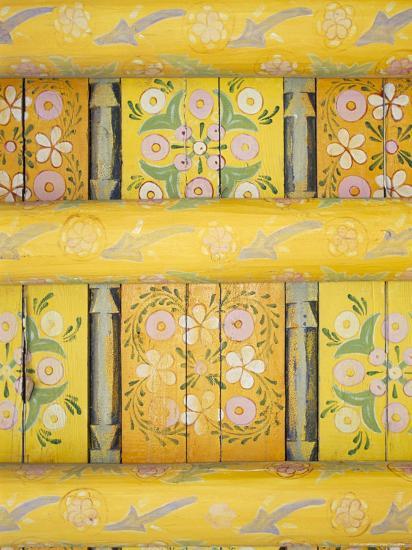 Painted Ceiling, the Harem, Tash Khauli Palace, Khiva, Uzbekistan, Central Asia-Upperhall-Photographic Print