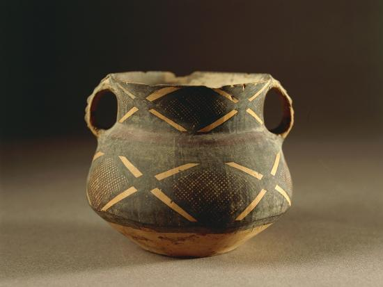 Painted Ceramic Vessel in Ma-Tchang Style from China, 2nd Millennium B.C.--Giclee Print