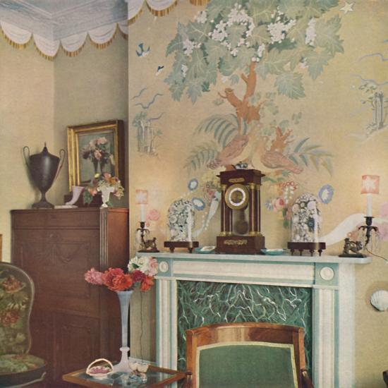 Painted chimney breast, 1933-Unknown-Photographic Print