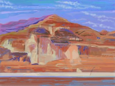Painted Cliffs, Lake Powell-Howard Ganz-Giclee Print