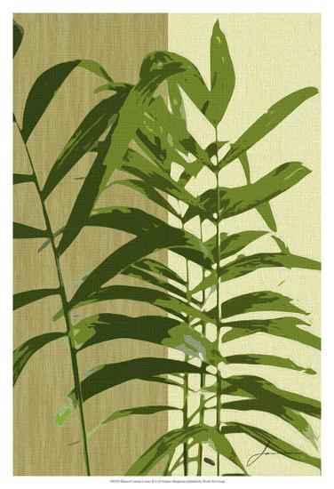 Painted Contrast Leaves II-James Burghardt-Art Print