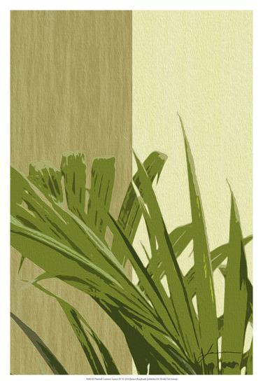 Painted Contrast Leaves IV-James Burghardt-Art Print
