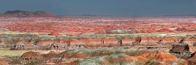 Painted Desert, Part of the Petrified Forest National Park, Buttes and Badlands-Clement Philippe-Photographic Print
