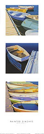 Painted Dinghies-Rob Brooks-Art Print