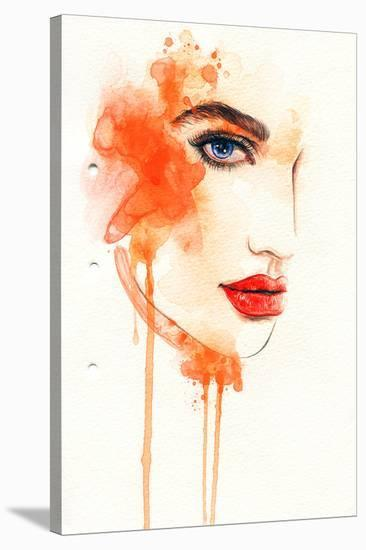 Painted Fashion Illustration--Stretched Canvas Print