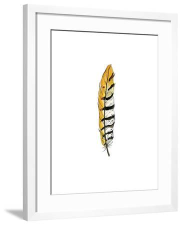 Painted Feather B-Natasha Marie-Framed Premium Giclee Print