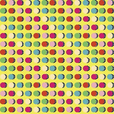 Painted Garden Crazy Dots Yellow-Jyotsna Warikoo-Giclee Print