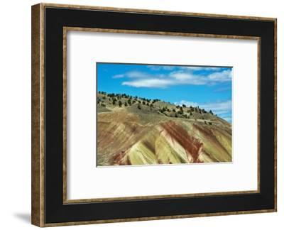Painted Hills, John Day Fossil Beds National Monument, Mitchell, Oregon, USA.-Michel Hersen-Framed Photographic Print