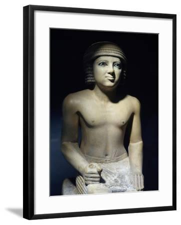 Painted Limestone Statue--Framed Giclee Print