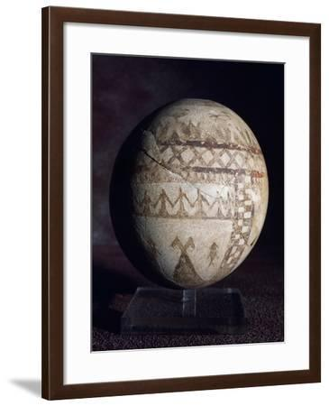 Painted Ostrich Egg, Cypriot Civilization, 7th-6th Century BC--Framed Giclee Print