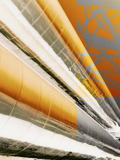 Painted Piping of Industrial Plant--Photographic Print