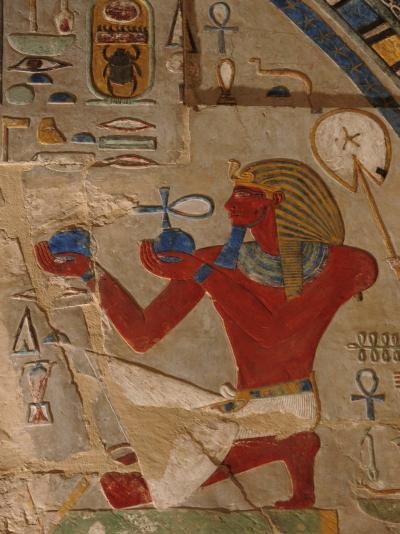 Painted Relief of Thutmosis Iii in the Main Sanctuary of Amun-Re-Kenneth Garrett-Photographic Print