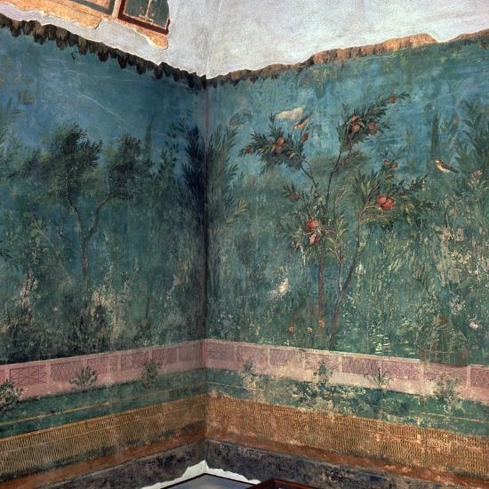 Painted room from Livia's villa, 1st century BC. Artist: Unknown-Unknown-Giclee Print