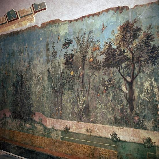 Painted room from Livia's villa, c.1st century BC. Artist: Unknown-Unknown-Giclee Print