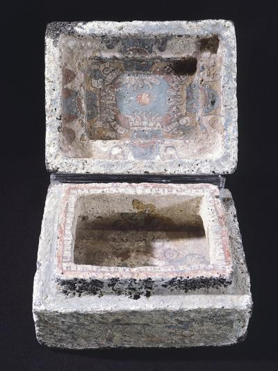 Painted Stone Casket for Offerings from Mexico--Giclee Print