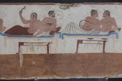 Painted Tomb of the Diver Detail, National Archaeological Museum, Paestum, Campania, Italy-Eleanor Scriven-Photographic Print