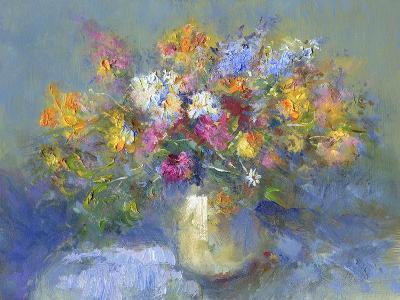 Painted Vase of Flowers-toitoitoi-Art Print