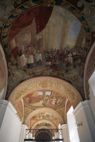 Painted Vaults of Cathedral of Santa Margherita, Brevnov Monastery, Prague, Bohemia--Giclee Print