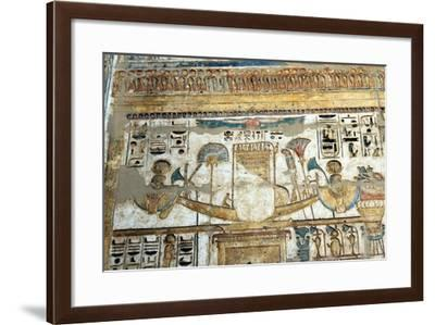 Painted Wall Relief, Temple of Rameses III, Medinet Habu, Egypt, 12th Century Bc--Framed Giclee Print
