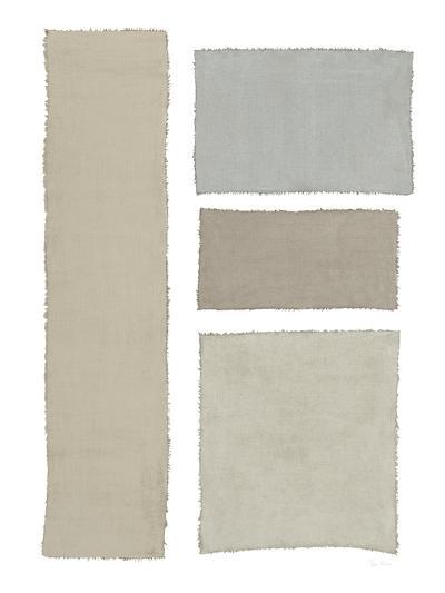 Painted Weaving III on White-Piper Rhue-Art Print