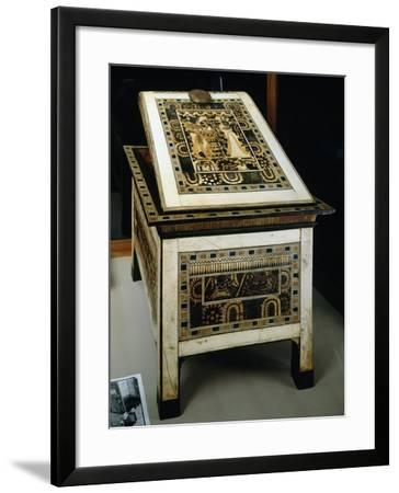 Painted Wooden Box Covered with Carved Ivory, from Tomb of Tutankhamun--Framed Giclee Print