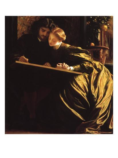 Painter and His Bride, 1864-Frederick Leighton-Giclee Print