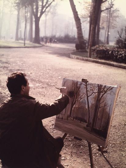 Painter in the Park-Vincenzo Balocchi-Photographic Print