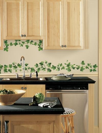 Painterly Ivy Peel and Stick Wall Decals--Wall Decal